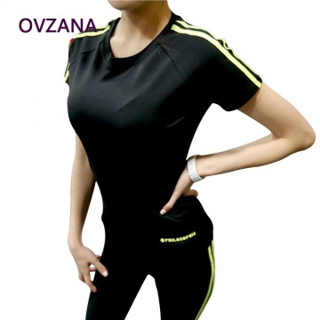 Women Sport Suit Tight Women Exercise Clothing Set Fitness Workout Clothes Elastic Jogging Yoga Set Tracksuit Female32685504015