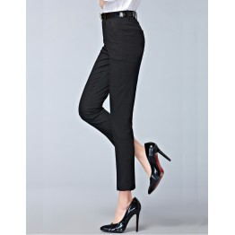 Spring  new fashion high waist pencil pants for women office OL style work wear skinny pants female vintage trousers
