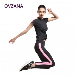 2 Sets Women Exercise Clothing Set Gym Yoga Clothes Jogging Suits Slim Sweatshirt Girls Clothing Set Gym Women Training Suits