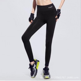 Brand Running Tights Lady's Leggings and Sports Clothing Gym Pants Women Yoga Fitness Wear Trousers Exercise Breathable Pants