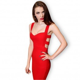Hot Sales 2016 Summer New Sexy Women Bodycon Bandage Dress Vintage Party Evening Club Girl Clothes Vestidos de festa Sheath