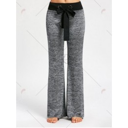 Large Drawstring Casual Pants with Long Tail - Smoky Gray - 2xl