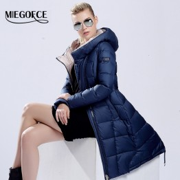 MIEGOFCE 2015 womens winter down jackets and coats women High Quality Warm Female thickening Warm Parka Hood Over Coat