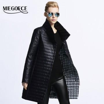MIEGOFCE 2016 New spring jacket women winter coat women's clothing warm outwear Cotton-Padded long Jacket coat Slim trench coat32587668527