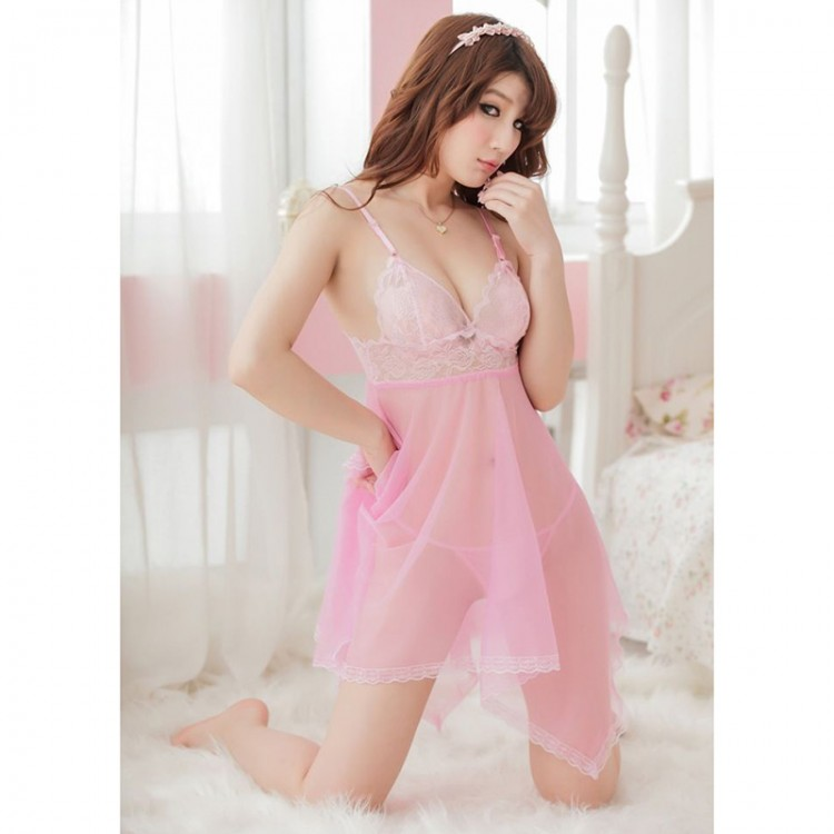 Porn Gauze Fishtail Type Lace Harness Pajamas Shoulder Straps Babydoll Erotic Sexy Lingerie Nightie Nightdress Costumes Woman