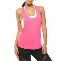 Racerback Work Out Layering Running Tank Top - Tutti Frutti - L