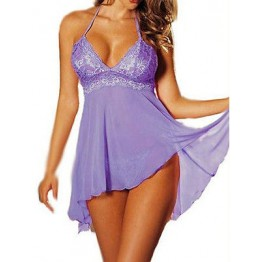 SEXY Sheer Purple Babydoll Lingerie Nighty Plus Size AU