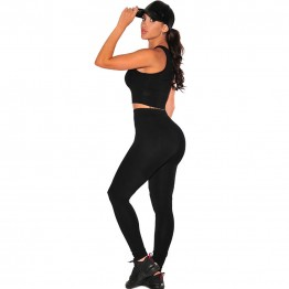 Sexy Black Fitted 2 piece Yoga Sets Sports Style Women suits Crop top+pants sports set yoga fitness women exercise clothing set