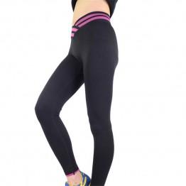 TOP SALE Leggings Womens Clothing Elastic Comfortable Fabric Exercise corriendo Cross Waist Female Leggins Deportes Trouser K117