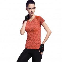 Women Shirts Fitness Exercise Workout Short Sleeve Elastic T-Shirt Tops Clothing