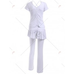 Short Sleeve T-Shirt and Pants and Tank Top Sport Suit