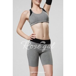 Sweet Scoop Neck Hollow Out Skinny Gym Outfits For Women