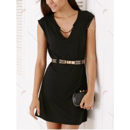 Short Sleeve Hollow Out Dress For Women