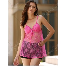 Alluring Spaghetti Strap See-Through Babydolls For Women