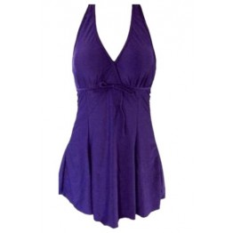 Sexy V-Neck Plus Size One-Piece Swimsuit For Women