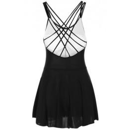 Sweet Sweetheart Neck Criss-Cross Swimsuit For Women